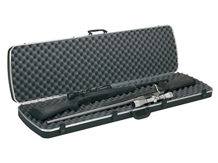 "Plano Gun Guard DLX Double Scoped Rifle Gun Case 51-3/4"" Polymer Black"