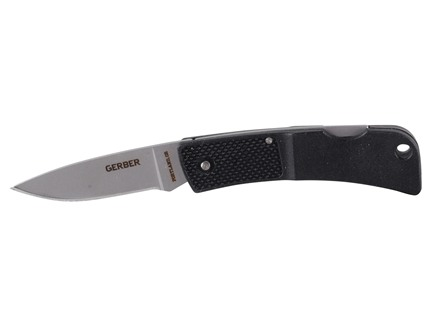 "Gerber Ultralight L.S.T. Folding Knife 1.96"" Drop Point 420HC Stainless Steel Blade Black Polymer Handle"