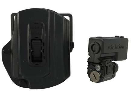 Viridian C5L Laser Sight 100 Lumen Tactical Flashlight with TacLoc ECR Holster for Smith & Wesson M&P Black
