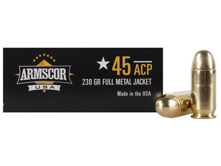 Armscor Ammunition 45 ACP 230 Grain Full Metal Jacket Box of 50