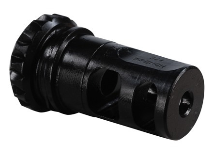 "Advanced Armament Co (AAC) Blackout Muzzle Brake 18-Tooth Spring Suppressor Mount 5.56mm AR-15 1/2""-28 Thread Steel Matte"