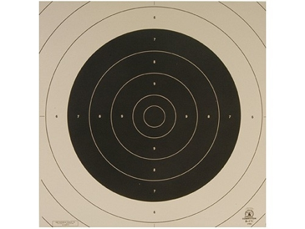 NRA Official International Pistol Target Repair Center B-17C 25/50 Meter Slow Fire Paper Package of 100