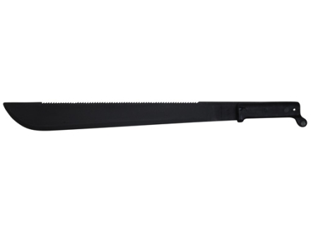 "Ontario SBK 1-18 Sawback Traditional Sawback Cutlass Machete 18"" 1095 Carbon Steel Blade with Zinc Phosphate Finish Polymer Handle Black"