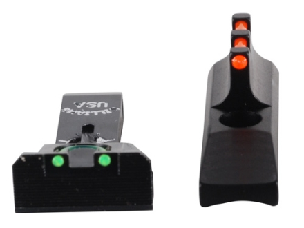 Williams Adjustable Fire Sight Set Browning Buckmark Fiber Optic Red Front, Green Rear Steel Black