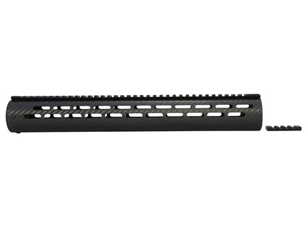 "AP Customs Tactical Free Float Tube Handguard AR-15 Extended 15"" Rifle Length Carbon Fiber Black"