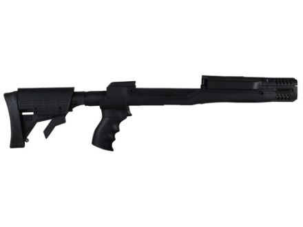 Advanced Technology Ultimate Professional Strikeforce 6-Position Collapsible Side Folding Rifle Stock with Aluminum Upgrade & Scorpion Recoil System Ruger Mini-14, Mini-30 Black
