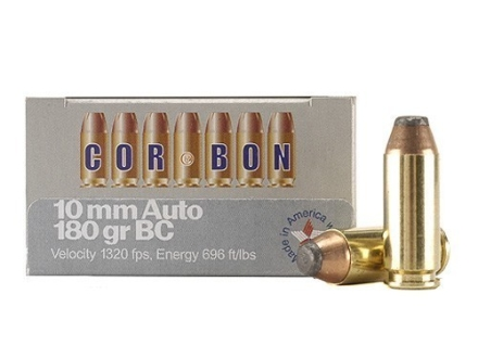 Cor-Bon Hunter Ammunition 10mm Auto 180 Grain Bonded Core Soft Point Box of 20