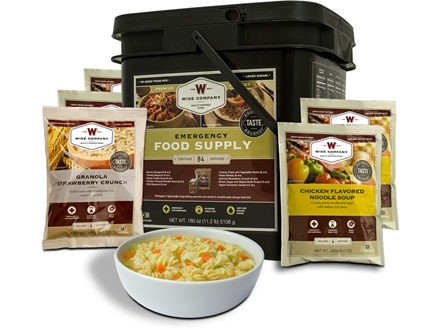 Wise Food Grab N' Go Freeze Dried Meals 84 Serving Bucket