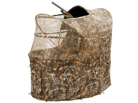 "Ameristep Wing Shooter Chair Ground Blind 60"" x 40"" x 57-1/4"" Polyester Realtree Max-4 Camo"