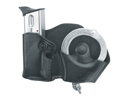 Gould & Goodrich B821 Paddle Hand Cuff and Magazine Carrier Left Hand 1911 Government, Kahr Micro MK9, Elite MK9, MK40, Covert 40, E9, K9, P9, K40, P40, Sig Sauer P230, P232 Leather Black