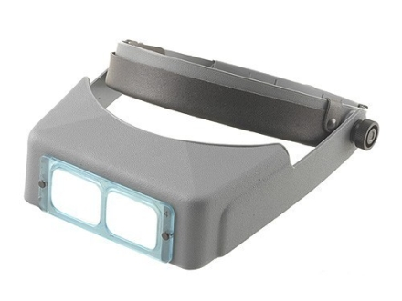 "Donegan Optical OptiVISOR Magnifying Headband Visor with 2X at 10"" Lens Plate"