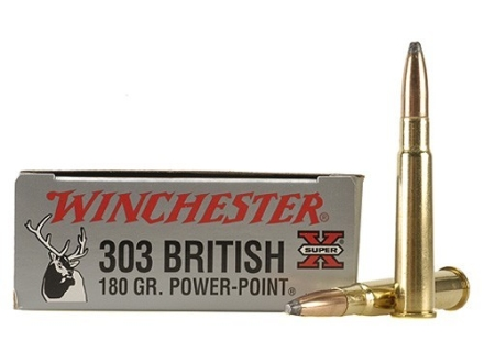 Winchester Super-X Ammunition 303 British 180 Grain Power-Point Box of 20