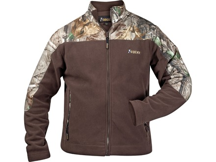 Rocky Men's Fleece Jacket Polyester Realtree AP Camo and Brown Medium 38-40