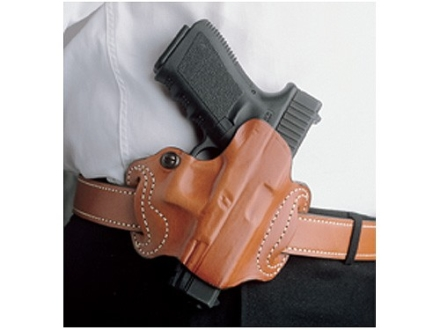 DeSantis Mini Slide Belt Holster Right Hand Glock 20, 21, 29. 30, 39 S&W M&P Leather Tan