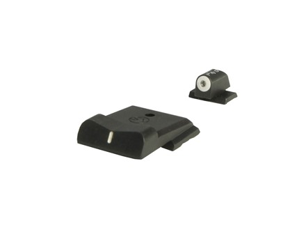XS Express Sight Set S&W M&P Shield Steel Matte Tritium Big Dot Front, White Stripe Rear