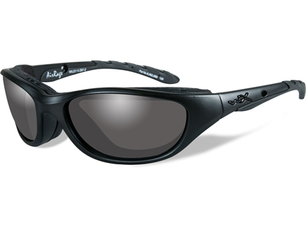 Wiley X Black Ops AirRage Sunglasses Smoke Grey Lens