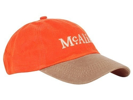 McAlister Waxed Canvas Six Panel Cap Cotton Blaze Orange