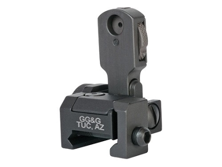 GG&G Multiple Aperture Device (MAD) Flip-Up Rear Sight with Ranging Window AR-15 Flat-Top Aluminum Matte