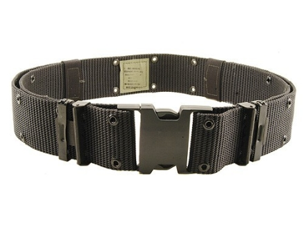 "Bianchi M1020 Web Pistol Belt 2-1/4"" Polymer Buckle Nylon Black"