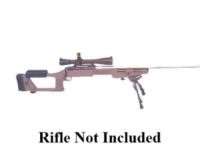 "Choate Ultimate Sniper Rifle Stock Remington 700 ADL Short Action 1.25"" Barrel Channel Left Hand Synthetic Olive Drab"