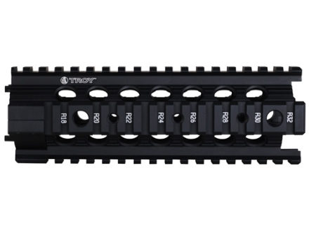 "Troy Industries 7"" MRF-C Battle Rail Free Float Quad Rail Handguard AR-15 Black"