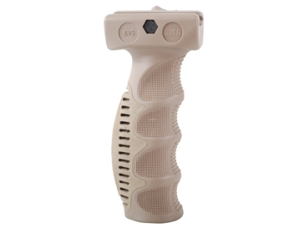 Command Arms EVG Ergonomic Vertical Forend Grip with Rubber Overmolded Backstrap & Storage Compartment AR-15 Polymer