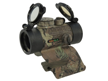 TRUGLO Red Dot Sight 30mm Tube 1x 5 MOA Red and Green Dot with Integral Remington Shotgun Mount Mossy Oak Break-Up Infinity Camo