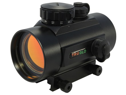 TRUGLO Red Dot Sight 40mm Tube 1x 5 MOA Dot with Integral Weaver-Style Base Matte