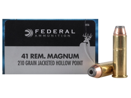 Federal Power-Shok Hunting Ammunition 41 Remington Magnum 210 Grain Jacketed Hollow Point Box of 20
