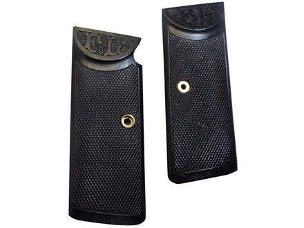 Vintage Gun Grips Langenhan FL Selbstlader without Ejector Port 32 ACP Polymer Black