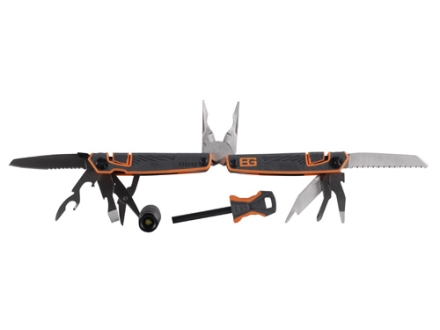 Gerber Bear Grylls Survival Tool Pack Multi-Tool 12 Function Plus LED Light and Fire Starter Rod