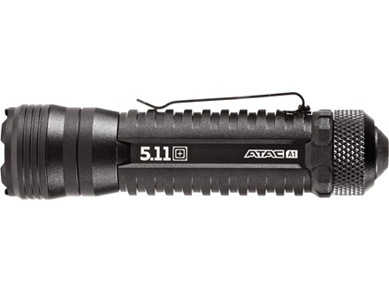 5.11 ATAC A1 LED Tactical Flashlight  Hi/Lo/Strobe Aluminum Black