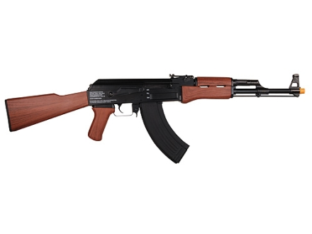 Game Face GF47 Airsoft Rifle 6mm Electric Full-Automatic Wood Grain Stock Polymer Frame Black