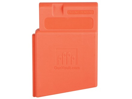 GunVault MagVault AR-15 Magazine Well Safety Gun Lock Polymer Orange