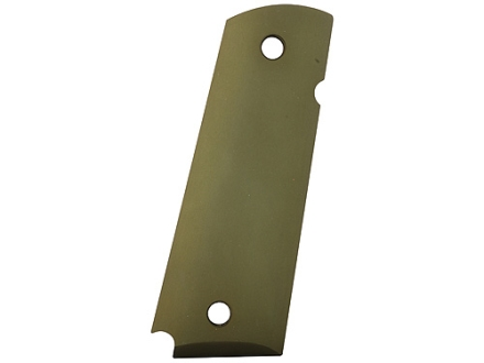 Hogue Extreme Series Grips 1911 Government, Commander Ambidextrous Safety Cut Smooth Aluminum OD Green Matte