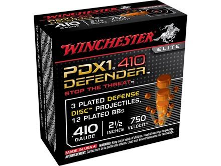 """Winchester Supreme Elite Self Defense Ammunition 410 Bore 2-1/2"""" 3 Disks over 1/4 oz BB Bonded PDX1"""