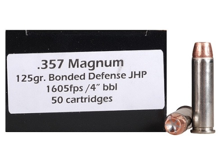 Doubletap Ammunition 357 Magnum 125 Grain Bonded Defense Jacketed Hollow Point