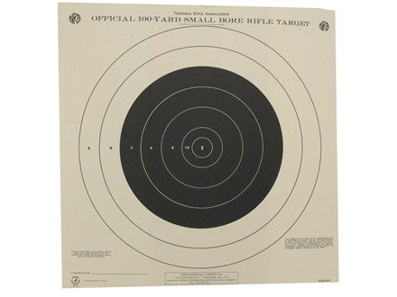 NRA Official Smallbore Rifle Training Target TQ-4 100 Yard Paper Package of 100