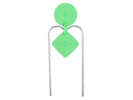 Champion DuraSeal Double Gong Spinner Reactive Target Ballistic Polymer Radiation Green