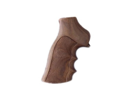 Hogue Fancy Hardwood Grips with Finger Grooves Ruger GP100, Super Redhawk Checkered Pau Ferro