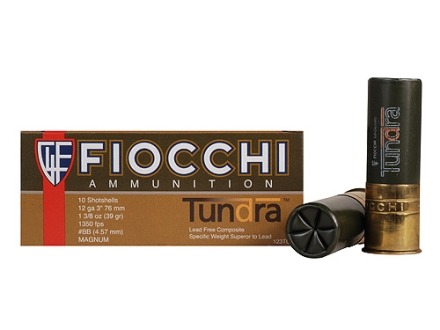 "Fiocchi Tundra Waterfowl Ammunition 12 Gauge 3"" 1-3/8 oz BB Non-Toxic Shot Box of 10"