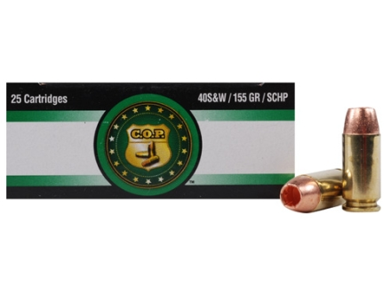 Copper Only Projectiles (C.O.P.) Ammunition 40 S&W 155 Grain Solid Copper Hollow Point Lead-Free Box of 25