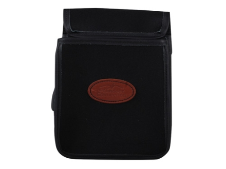 The Outdoor Connection Rigid Shotshell Pouch with Belt Synthetic with Leather Trim Black