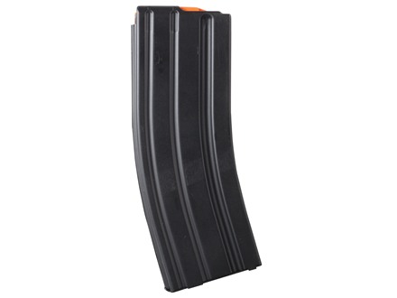 C Products Defense Magazine AR-15 223 Remington with Orange Anti-Tilt Follower Stainless Steel Black