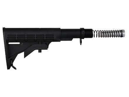 GMG Buttstock Assembly 6-Position Collapsible Commercial Diameter AR-15 Carbine Synthetic Black