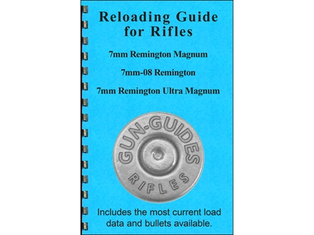 "Gun Guides Reloading Guide for Rifles ""7mm Remington Magnum, 7mm-08 Remington & 7mm Remington Ultra Magnum"" Book"