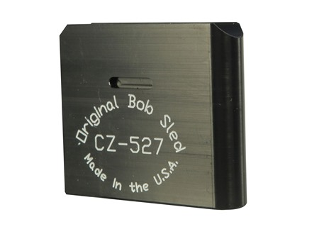 Original Bob Sled Loading Block CZ-527 204 Ruger, 223 Remington, 17 Remington 1-Round Polymer Black