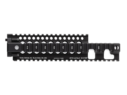 Daniel Defense Lite Rail 9.5 FSP Free Float Tube Handguard Quad Rail AR-15 Extended Carbine Length Aluminum Black