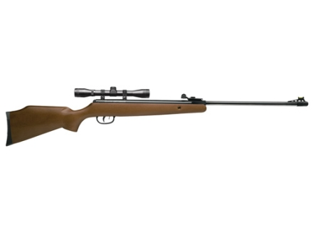 Crosman Optimus Break Barrel Spring Air Rifle 22 Caliber Pellet Wood Stock Matte Barrel with 4x 32mm Scope