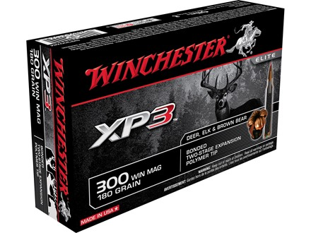 Winchester Ammunition 300 Winchester Magnum 180 Grain XP3 Box of 20